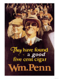 William Penn Cigars Poster