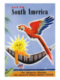 Fly to South America Premium Giclee Print by Jean Dubois