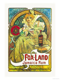Fox-Land Jamaica Rum Prints by Alphonse Mucha