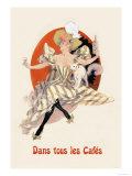 Dans Tous les Cafes: Quinquina Dubonnet Prints by Jules Chéret
