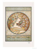 Laurel Print by Alphonse Mucha