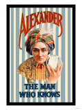 Alexander, The Man Who Knows Poster