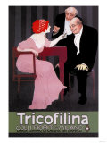Advertisement for Tricofillina Headache Medicine Posters