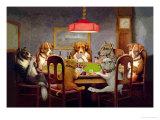 Poker Spelende Honden Kunst van Cassius Marcellus Coolidge