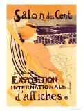 Salon des Cent: Exposition Internationale d'Affiches Giclée-Premiumdruck von Henri de Toulouse-Lautrec