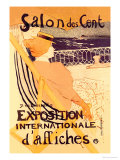 Salon des Cent: Exposition Internationale d'Affiches ポスター : アンリ・ド・トゥールーズ=ロートレック