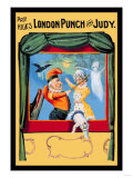 Prof. Hicks London Punch and Judy Posters