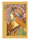 Savonnerie de Bagnolet Psters por Alphonse Mucha
