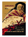 Ambulancies Per Al Front Print by Carles Fontsere