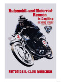 Automobile and Motorcycle Race, Munich Julisteet