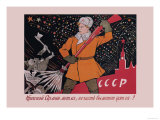 The Red Army's Broom Will Sweep Away Premium Giclee Print by Victor Deni
