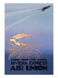 Riviera Express Air Union Posters by Edmond Maurus