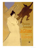 La Gitane de Richepin: Theatre Antoine Photo by Henri de Toulouse-Lautrec
