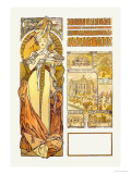 Austria: 1900 Poster by Alphonse Mucha