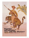 Travel Adventure Join the Marines Premium Giclee Print by James Montgomery Flagg