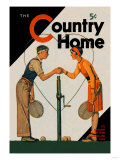 Country Home: A Friendly Match - Art Print
