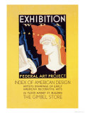 Wpa Federal Art Project: Index of American Design Poster by Katherine Milhous