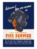 Women! You Are Needed in the National Fire Service Print by George Gibbons