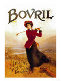 Bovril, For Health, Strength and Beauty Póster