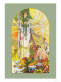 Salammbo Prints by Alphonse Mucha