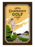 Open Championship Golf Game Posters