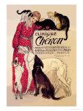 Clinique Cheron, Veterinary Medicine and Hotel Affiche par Théophile Alexandre Steinlen