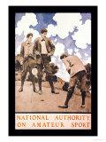 National Authority on Amateur Sport Kunstdruck von Maxfield Parrish
