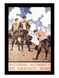 National Authority on Amateur Sport Print by Maxfield Parrish