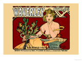 Waverley Cycles Posters by Alphonse Mucha