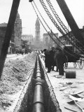 Installing a Water Pipe, North Broad Looking South, Philadelphia, Pennsylvania Photo