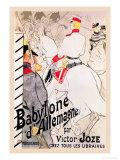 Babylone d'Allemagne Láminas por Henri de Toulouse-Lautrec