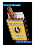 Weisser Rabe Cigars Art by Hugo Laubi