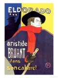 El Dorado: Aristide Bruant dans Son Cabaret Photo by Henri de Toulouse-Lautrec