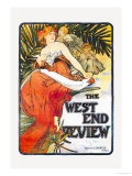 The West End Review Art by Alphonse Mucha