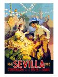 Sevilla Centenario de la Feria de Abril Plakat af Newell Convers Wyeth