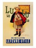 Biscuits Lu - Affiche vintage avec écolier Affiches par Firmin Etienne Bouisset