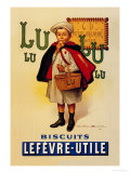 Lu Lu Biscuits Plakater af Firmin Etienne Bouisset