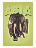 Indian Elephants Posters by Robert Harrer