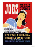 Jobs for Girls and Women Posters by Albert Bender