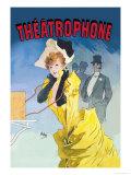 Theatrophone Print by Jules Chéret