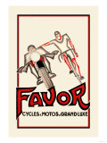 Favor Cycles and Motos de Grand Luxe Posters