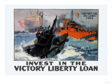 They Kept the Sea Lanes Open, Invest in the Liberty Loan Prints by L.a. Shafer