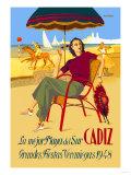 Cadiz, La Mejor Playa del Sur Premium Giclee Print