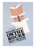 On the Rocks by Bernard Shaw Poster by Ben Lassen