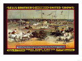 Sells Brothers' Enormous United Shows: Three Ring Circus Posters