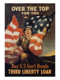 Over the Top for You, Third Liberty Loan Posters by Reisenberg