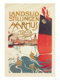 Landsud Stillingen Aarhus Premium Giclee Print by Valdemar Andersen