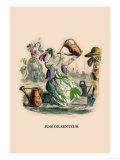 Pois de Senteur Poster by J.J. Grandville