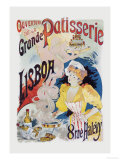Grande Patisserie Lisboa Poster by Charles Gesmar