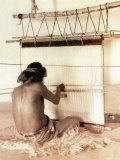 Hopi Weaver, Walpi Photo by Carl And Grace Moon
